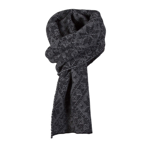 Dale of Norway, Rose Unisex Scarf in Black/Smoke, 11661-E
