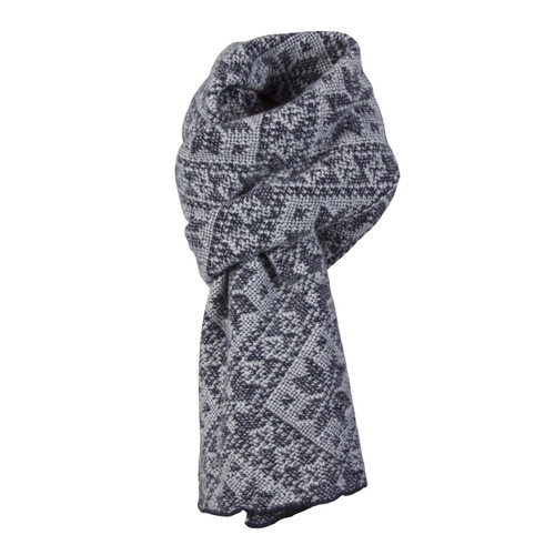 Dale of Norway, Rose Unisex Scarf in Navy/LIght Charcoal, 11661-C