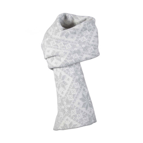Dale of Norway, Rose Unisex Scarf in Light Charcoal/Off White, 11661-T