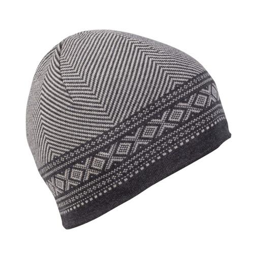 Dale of Norway, Harald Unisex Hat, Sand Mel/Dark Charcoal Mel, 48061-P