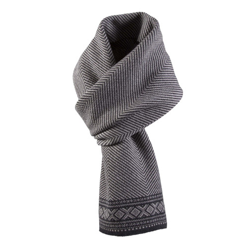 Dale of Norway, Harald Unisex Scarf, in Sand/Dark Charcoal, 10981-P