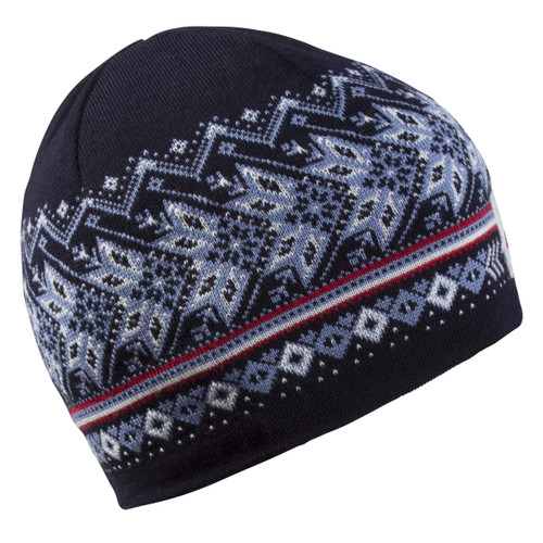 Dale of Norway, Harald Unisex Hat, Navy/Off White/Blue Shadow/Raspberry, 48081-C