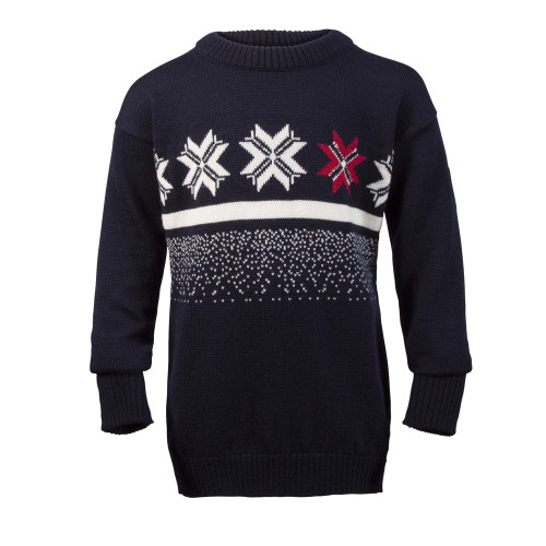 Dale of Norway Olympic Passion childrens sweater, in Navy/Raspberry/Off White, 93341-C