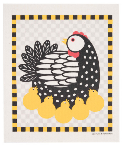Swedish Dishcloth, Chickens design
