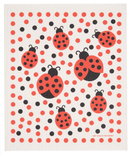Swedish Dishcloth - Ladybugs design