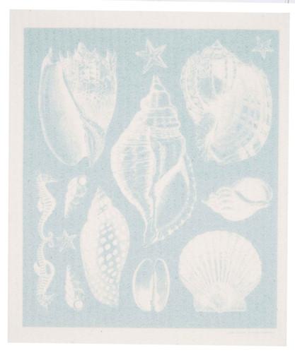 Swedish Dishcloth - Seashells design