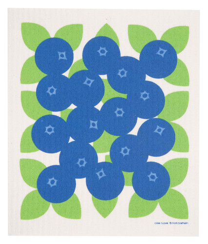 Swedish dish cloth, Blueberries design
