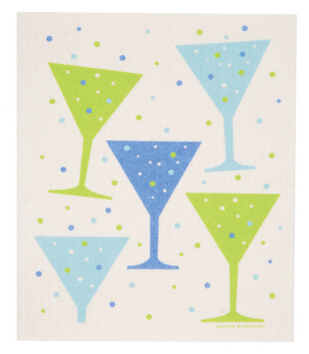 Swedish dishcloth, Champagne design