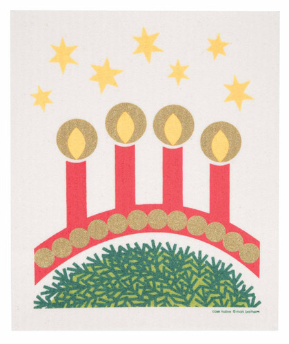 Swedish Christmas dishcloth, Advent Candles design