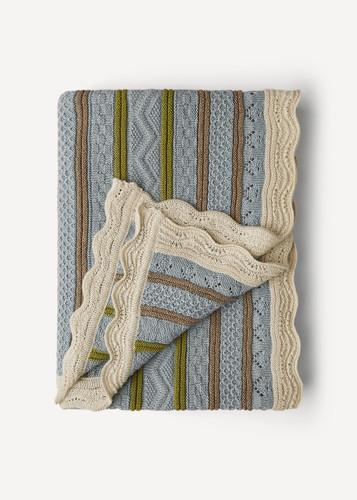 Stella Oleana Throw Blanket, 68Q Light Blue