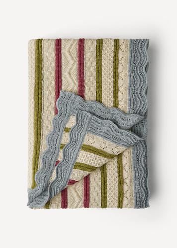 Stella Oleana Throw Blanket, 68QC White