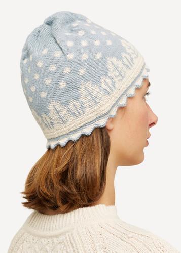 Lilly Oleana Striped Alpaca Hat, 407Q Light Blue
