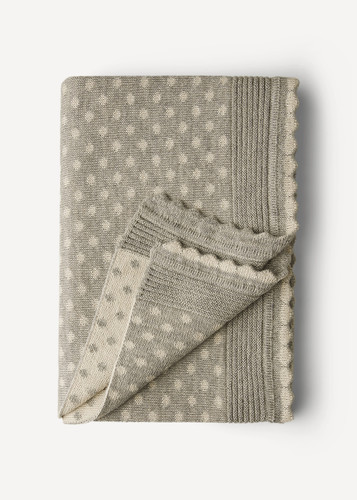 Lilly Oleana Alpaca Throw Blanket, 408B Grey Beige