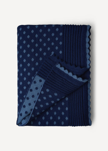 Lilly Oleana Alpaca Throw Blanket, 408F Blue