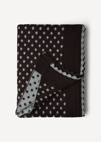 Lilly Oleana Alpaca Throw Blanket, 408H Brown