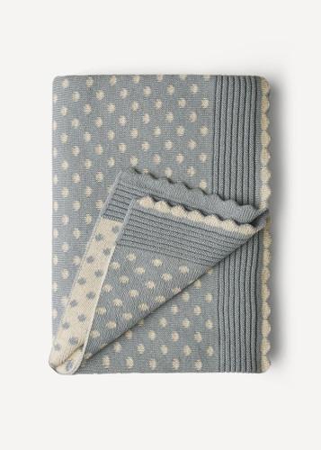 Lilly Oleana Alpaca Throw Blanket, 408Q Light Blue