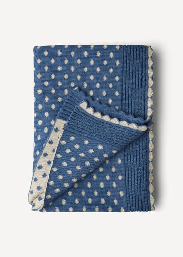 Lilly Oleana Alpaca Throw Blanket, 408FQ Cobalt Blue