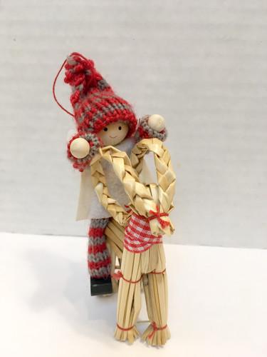 "Swedish Boy Tomte on Jul Buk Ornament/Decoration, 5"""