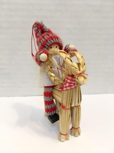 "Swedish Girl Tomte on Jul Buk Ornament/Decoration, 5"""