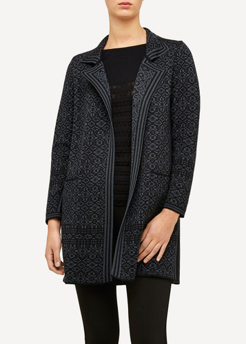 Hanne Oleana Long Length Cardigan (Salstí_rm), 327O Black