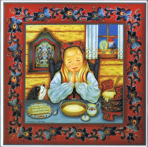 Suzanne Toftey Tile - Norwegian Table Prayer