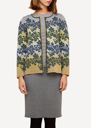 Klara Oleana Medium Length Cardigan (Hydrangea), 336DY Grey