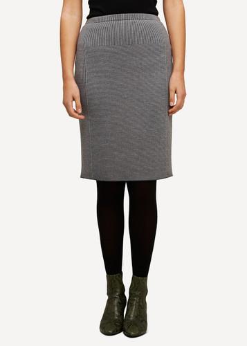 Oleana Short Knitted Skirt, 321D Grey