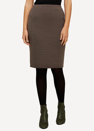 Ester Oleana Short Knitted Skirt, 321H Brown