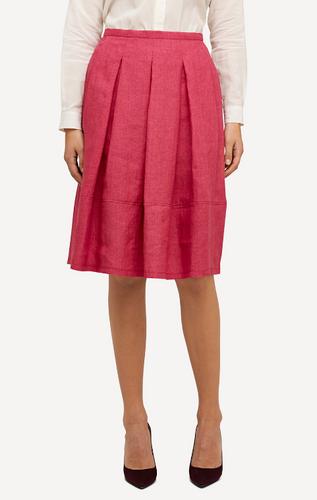 Emma Oleana Short 100% Linen Skirt, 88K Cerise