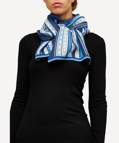 Oleana Scarf, 334F Sharp Blue