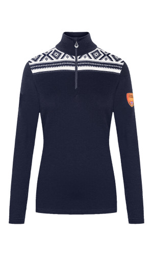 Dale of Norway Cortina Women's Basic Sweater (Base Layer), Navy/Off White, 93521C