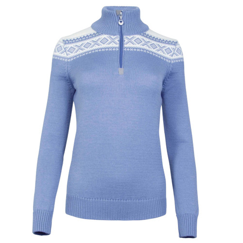 78be2097 Dale of Norway Cortina Merino Sweater, Ladies - Blue Shadow/Off-White,  93811-D