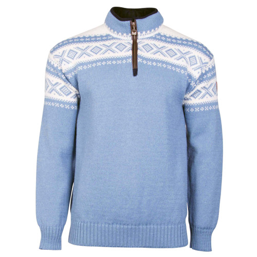 Dale of Norway Cortina Half Zip Unisex Sweater - Blue Shadow/Off-White, 93561-D
