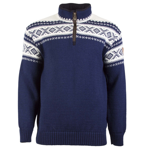 Dale of Norway, Cortina Half Zip sweater, Unisex, in Light Navy/Off-White, 93561-C