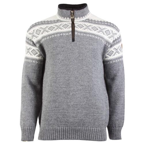 Dale of Norway, Cortina Half Zip sweater, Unisex, in Smoke/Off-White, 93561-E