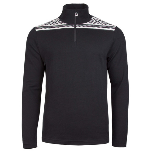 Dale of Norway, Cortina basic sweater, mens, in Black/Off White, 93531-F