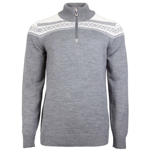 Dale of Norway, Cortina Merino sweater, mens, in Smoke/Off White, 93821-E