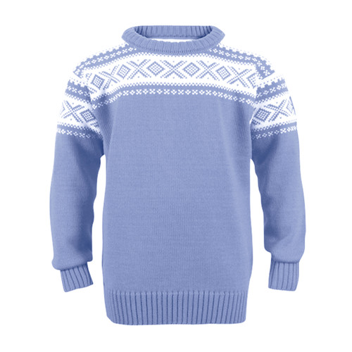 Dale of Norway, Cortina childrens sweater in Blue Shadow/Off White, 92991-D