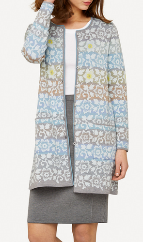 Dagny Oleana Long Cardigan , 344Q Light Blue