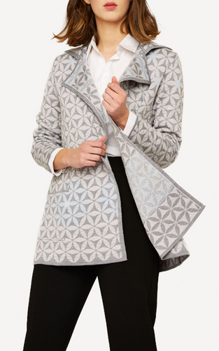 Elizabeth Oleana Long Cardigan , 345D  Grey