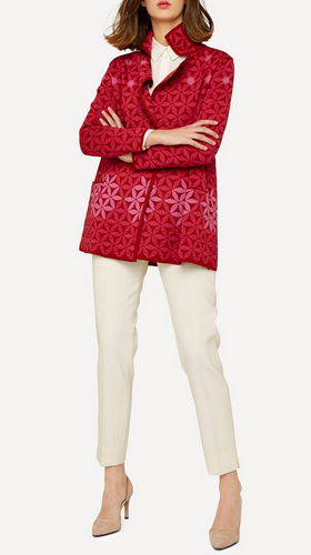Elizabeth Oleana Long Cardigan , 345R Red