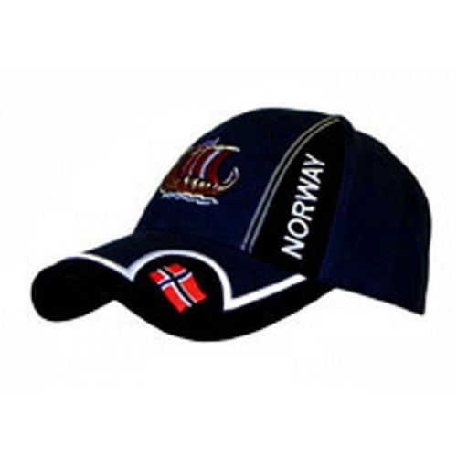 Norway Longboat Navy Baseball Cap