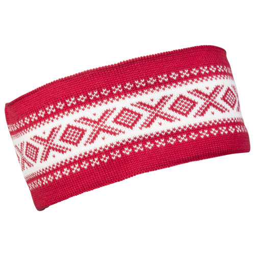 Dale of Norway Cortina Merino headband, Raspberry/Off-White, 26021-B