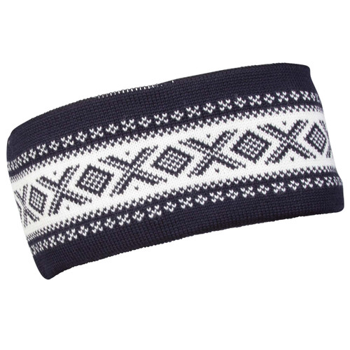 Dale of Norway Cortina Merino headband, Navy/Off-White, 26021-C