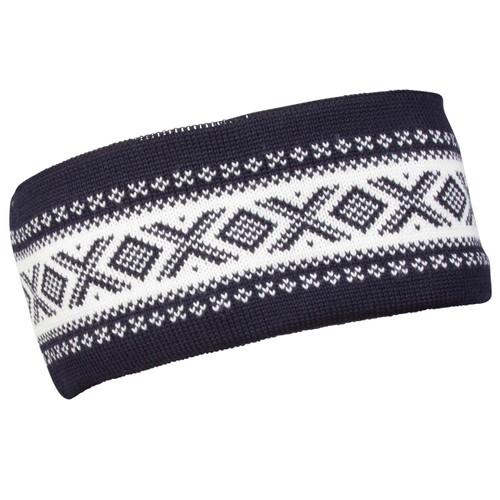 Dale of Norway Cortina Merino headband, Navy/Off-White, 26021-C