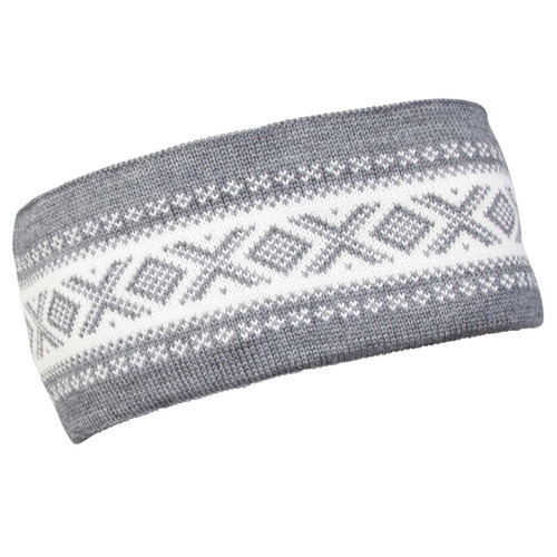 Dale of Norway Cortina Merino headband, Smoke/Off-White, 26021-E