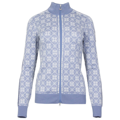 Dale of Norway Frida cardigan, ladies, in Blue Shadow/Off White/Grau Vig/Atlantic Mele, 82931-D, on sale at The Nordic Shop.