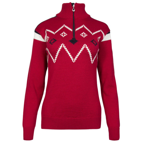 Dale of Norway, Seefeld ladies pullover in Raspberry/Navy/Off White, 93631-B