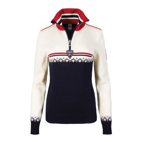 Dale of Norway, Lahti ladies sweater in Navy/Raspberry/Off White, 93231-C