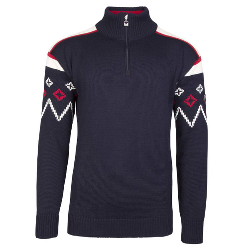 Dale of Norway, Seefeld mens pullover in Navy/Raspberry/Off White, 93641-C